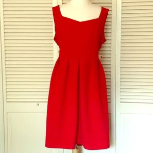 Red simplybe midi dress so 22 heart cutout on back